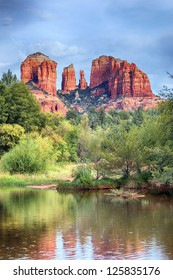The view of Cathedral Rock in Sedona, Arizona.