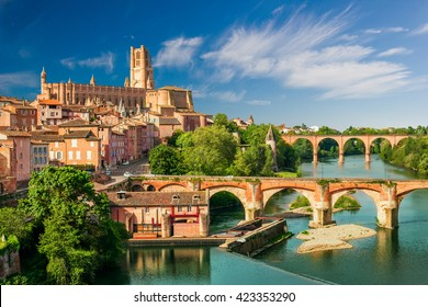 View at Cathedral of Saint Cecilia of Albi, France.