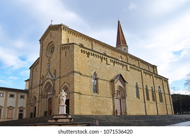 View of the Cathedral of Saints Peter and Donato in Arezzo - Tosacna - Italy