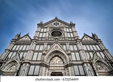 VIEW of Cathedral Santa Croce, in Florence, Italy in april 17, 2017