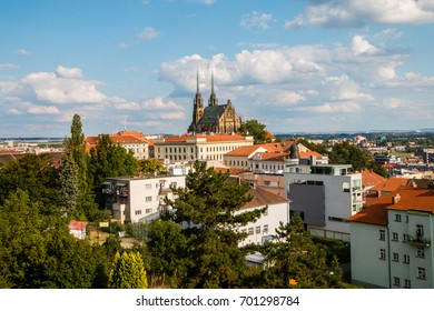 View of Cathedral of St. Peter and Paul, Brno, Moravia, Czech Republic