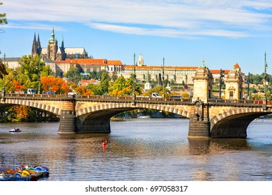 View of the Cathedral of St. Vitus, Hradcany. Prague.