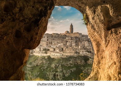 View from a cave (sassi) of Matera, capital of culture 2019