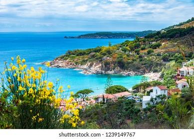 View of  Cavoli beach, Elba island, Tuscany, Italy