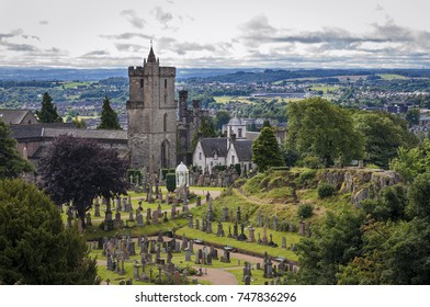 View of the cemetery behind the Church of the Holy Rude, in Stirling, Scotland, United Kingdom.