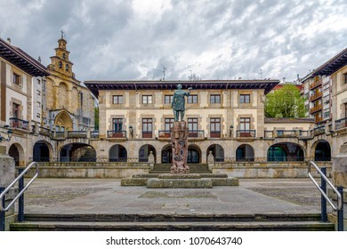 View of the center of Gernika, a town in the province of Biscay, Basque Country, Spain.