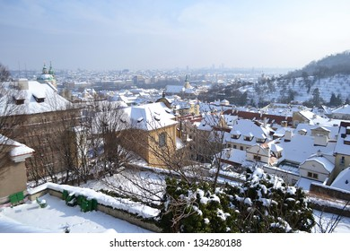 View of center of Prague from the grounds of Prague Castle (Pra���¾sk���½ hrad) Czech Republic