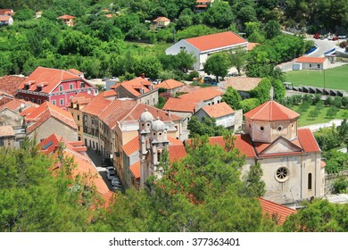 View at the center of Skradin - a small  town in Croatia, Europe.