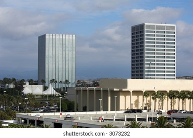 View of a central area of Newport Beach's Fashion Island area.