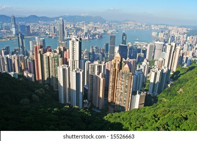 View of the Central district in Hong Kong