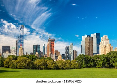 View from Central Park to the Skyscrapers in Midtown, summer 2016