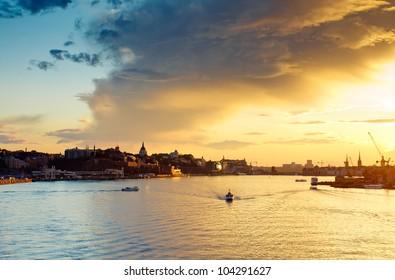 View of central part of Stockholm,Sweden