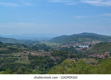 View of central Serbia from the mountain of Bukulja