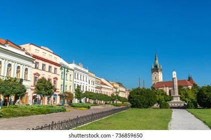 View of the central square in Presov. Slovakia, Central Europe