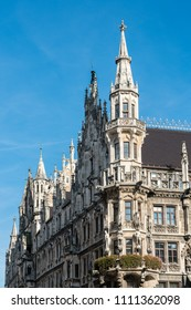 The view of central square with town hall of Munich, Germany.