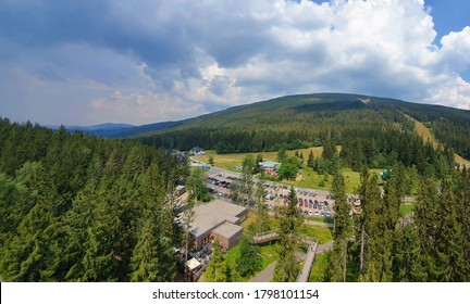 View of Cerna Hora (Black Mountain) in Krkonose national park (Giant Mountains). - Shutterstock ID 1798101154