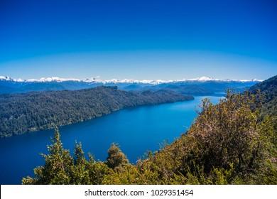 View from Cerro Falso Belvedere, Villa la Angostura, Patagonia - Argentina