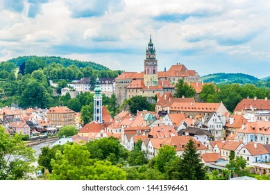 View at the Cesky Krumlov Town - Czech Republic