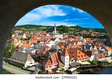 View of Cesky Krumlov from a Window