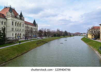 A view of a channel in Zrenjanin