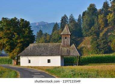 view of Chapel In Rosegg In Carinthia, Austria