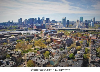 View of Charlestown and Boston from the Bunker Hill Monument.