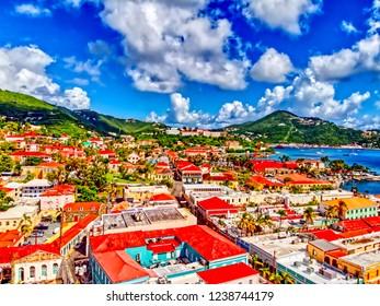 View of Charlotte Amalie US Virgin Islands