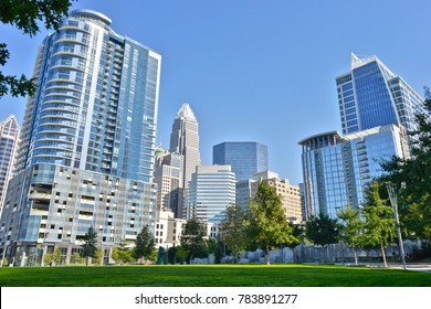 A view of the Charlotte, NC, skyline.