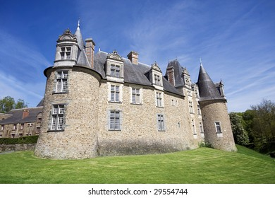 A View of the Chateau at Chateaubriant, Brittany, Northern France