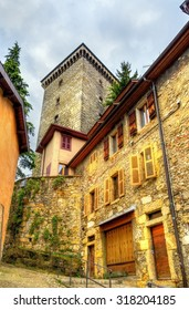 View of Chateau d'Annecy, a castle in Haute-Savoie department of France
