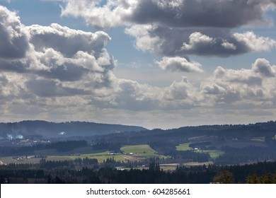 View of Chehalem Mountains and Tualatin River Valley in Beaverton Oregon