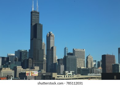 View of Chicago downtown on October 10,2017