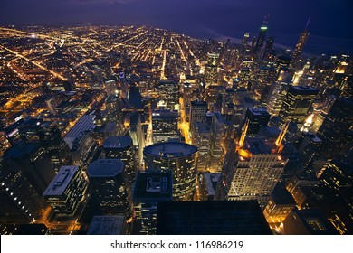 View of Chicago, Illinois, USA from above
