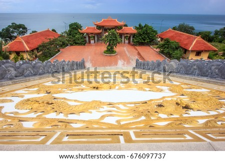View of Chinese temple, Chua Ho Quoc, on Phu Quoc island ,Vietnam, Southeast Asia