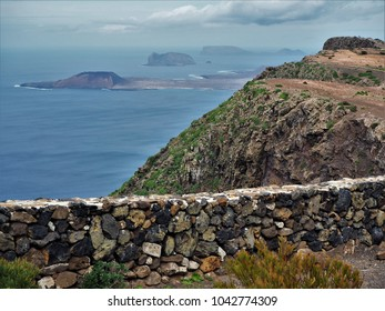 View of the Chinijo Archipelago from a mirador on Lanzarote