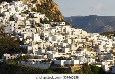 View of Chora, the capital of Skyros island, in Northern Aegean Sea, Greece, Europe.