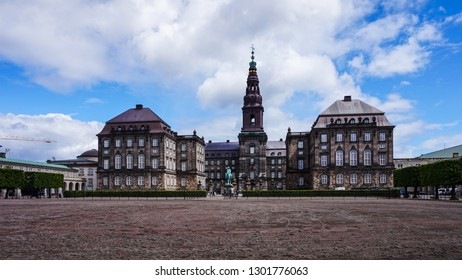 View of the Christiansborg Palace from the west plaza