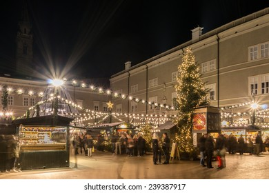 view to a christmas market