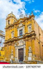 View of a church in Agrigento, Sicily, Italy
