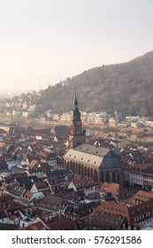 View of the Church of the Holy Spirit, Heidelberg from the Heidelberg Castle