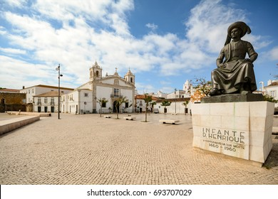 View to church Igreja de Santo Antonio in the old town of the historic centre of Lagos, Algarve Portugal