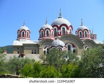 View of the church of Profet Elias Skete at Mount Athos, Greece