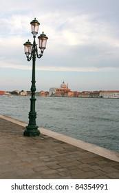 view of the church redentore at giudecca from dorsoduro, venice, italy, europe