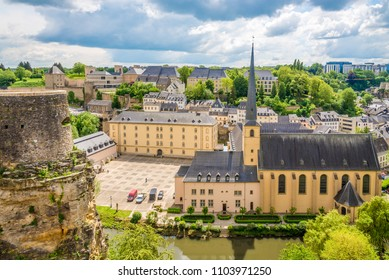 View at the church of Saint Jean du Gard with abbey - Luxembourg City