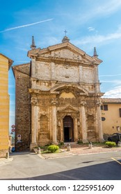 View at the church of Saint Lucy in Montepulciano, Italy