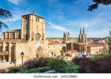 View at the Church of San Esteban in the streets of Burgos - Spain