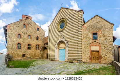 View at the church of San Francesco in Lucignano - Italy