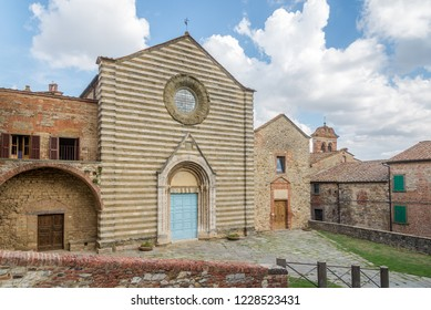 View at the church of San Francesco in Lucignano - Italy,Tuscany
