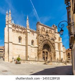 View at the Church of Santa Maria la Real in Aranda de Duero, Spain