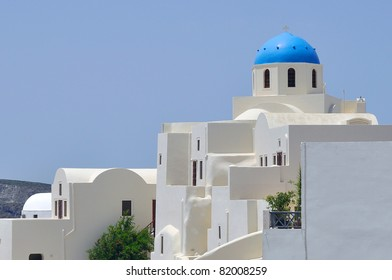 A view of church at Santorini
